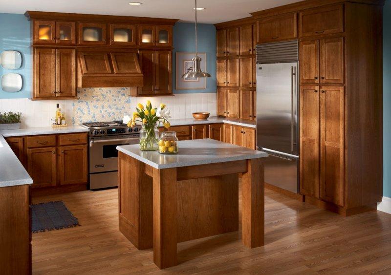 Maple Kitchen In Kraftmaid S Modern Farmhouse Style Photo Credit